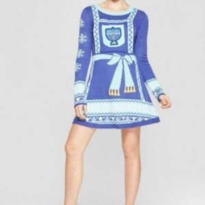 """Ugly Sweater"" style knit Hanukkah Dress"